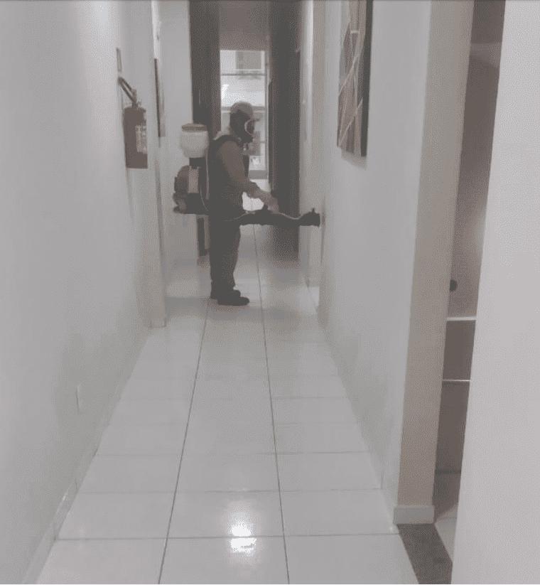 Sede do Viçosa-Prev passa por serviço de desinfecção